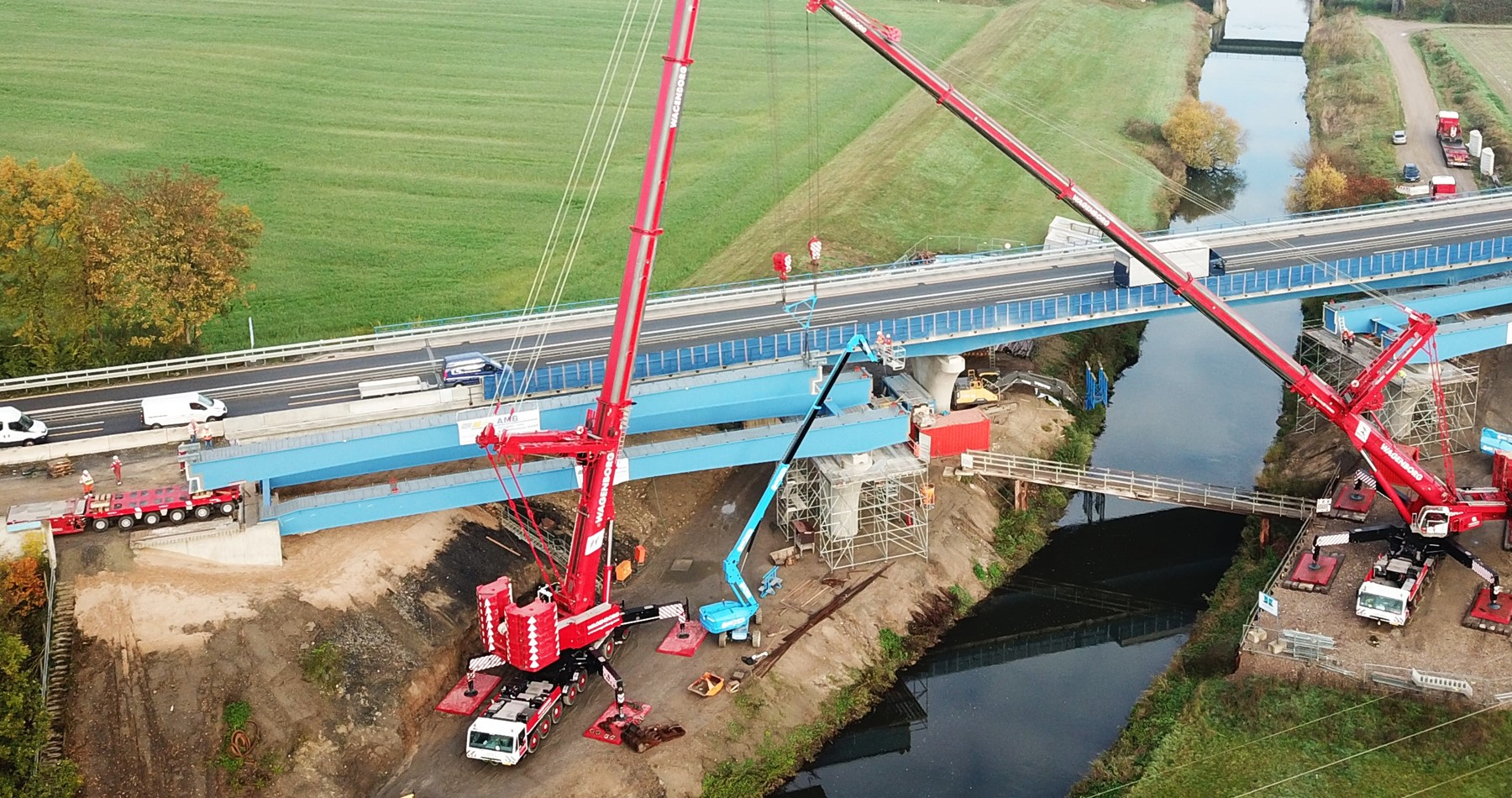Inventive lifting solution for heavy bridge girders