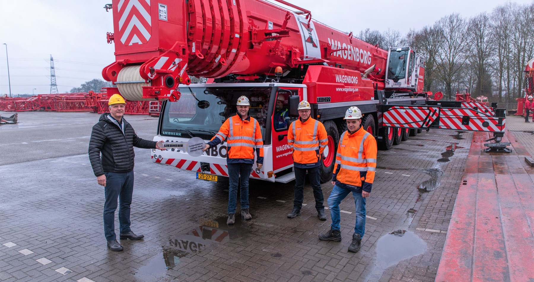 New 450 tons mobile crane for Wagenborg Nedlift!